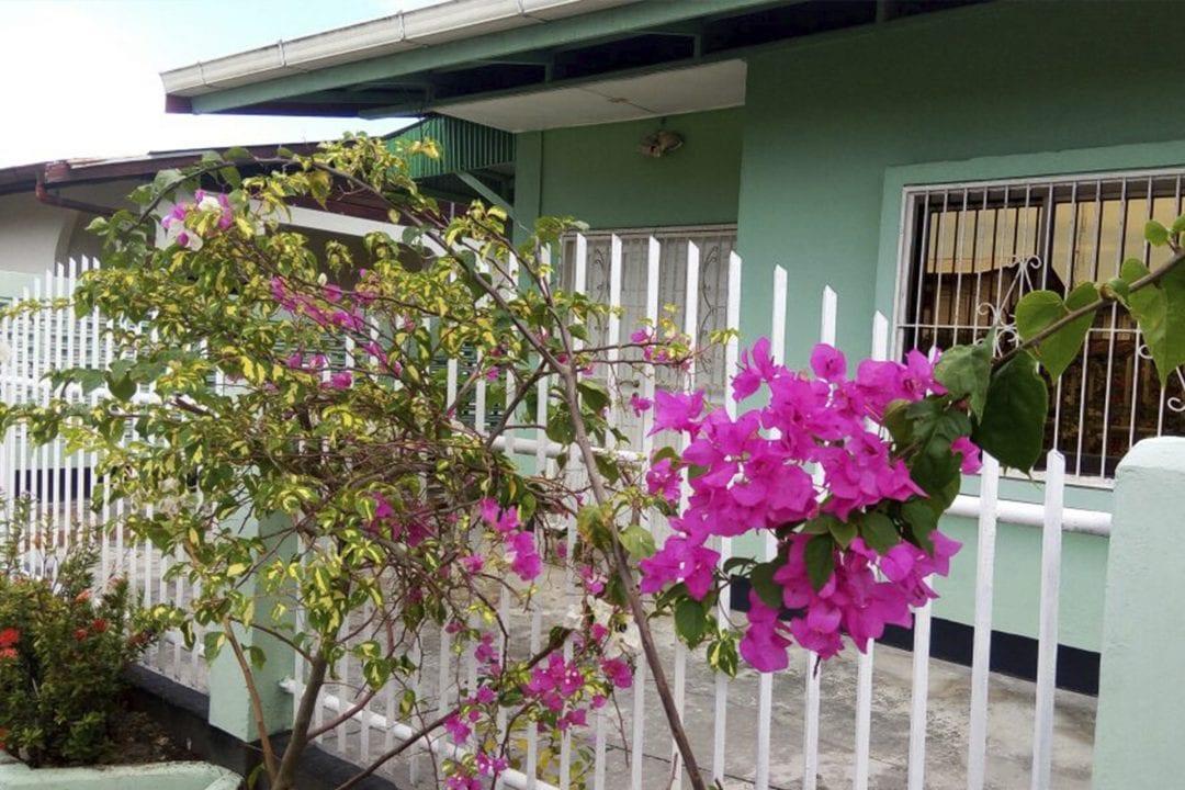 Vakantiehuis Suriname Straat zicht 2
